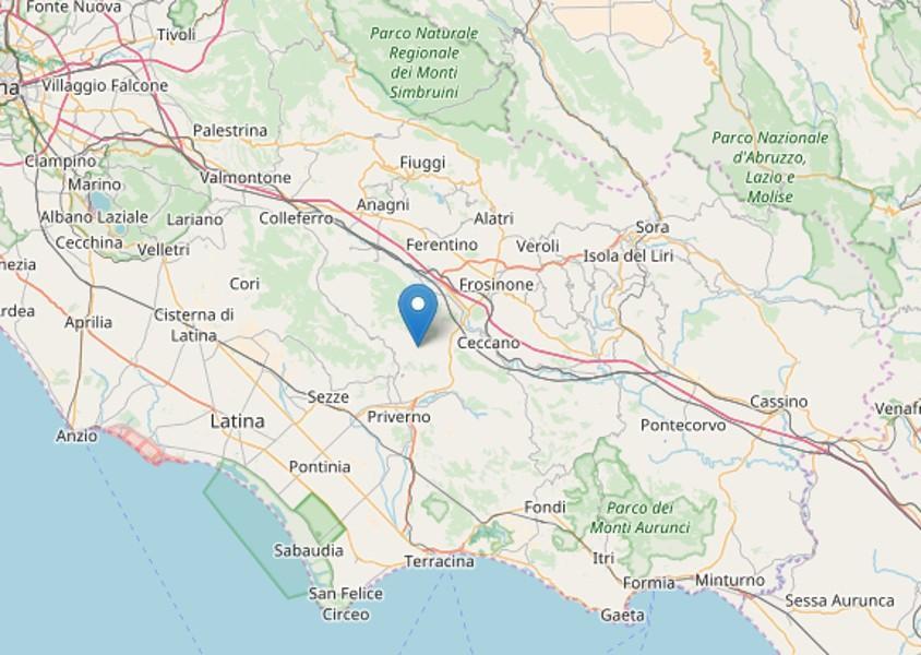 Terremoto nella notte: scossa di 2.7