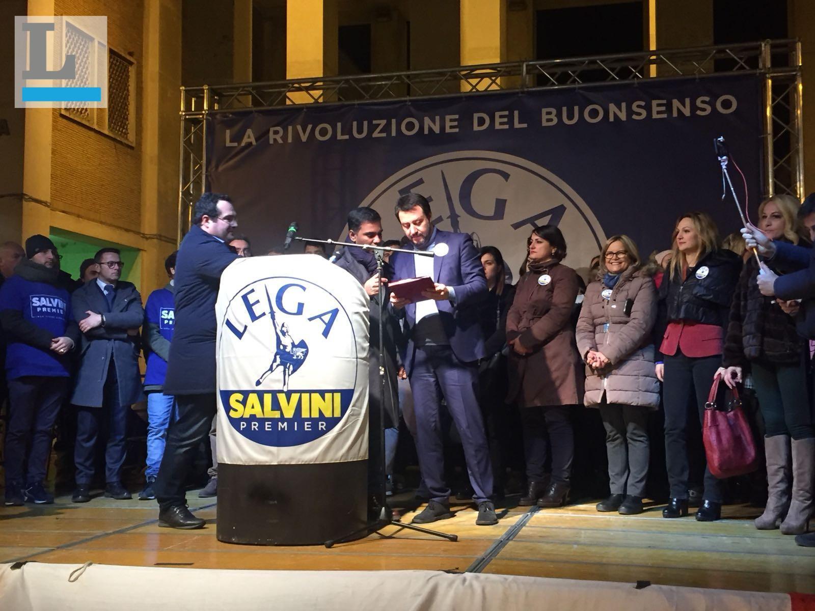 Politiche 2018, Salvini a Caserta: presente anche il coordinamento di Avellino
