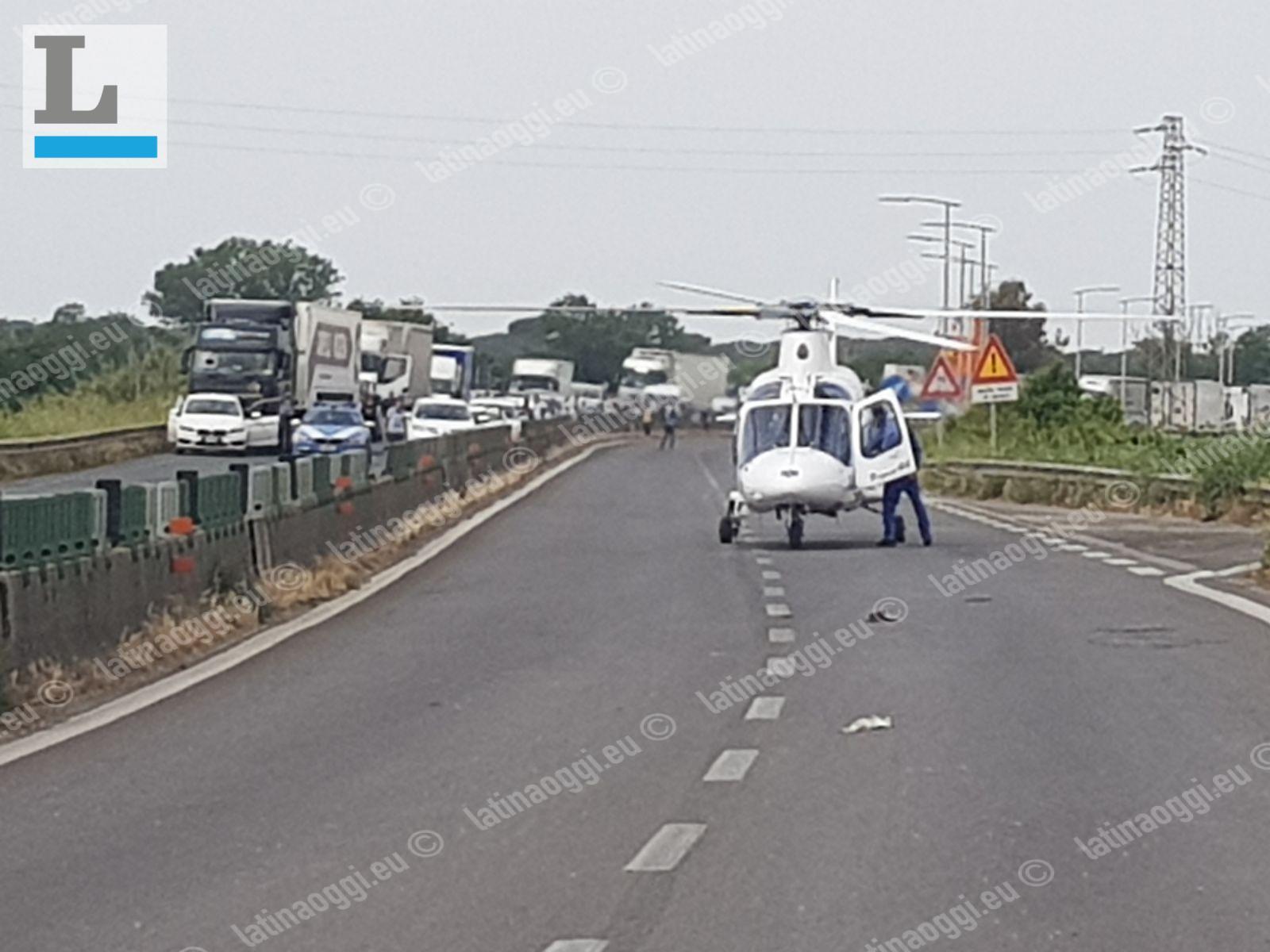 Incidente a Campoverde, Pontina chiusa in entrambe le direzioni