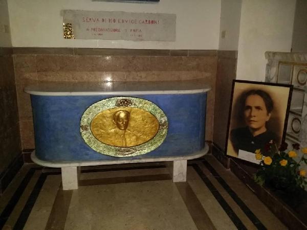 Hedvigs midlertidige hvilested i Nettuno