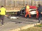 Incidente stradale sull'Appia davanti alla Findus, due feriti gravi